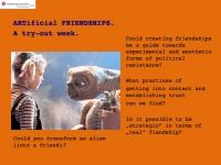 Projekt 06 Artificial friendships 1